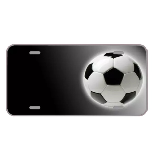 customizeaplate Other - Custom license plate with soccer ball add names
